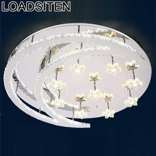 Lamp sufitowa lampen modern lampada luminaria de teto plafonnier lampara techo crystal living room led ceiling light