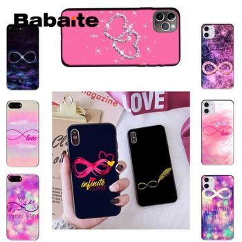 Babaite infinity symbol Love Soft black Phone Case For iPhone 8 7 6 6S Plus X XS MAX 5 5S SE XR 11 11pro promax 12 12Pro Promax image