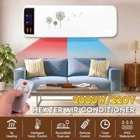 220V 2KW Wand Montiert Klimaanlage Kühler Fan Heizung Heizung Kühlung Wasserdicht Wohnzimmer Bad Timing Klimaanlage-in Elektrische Heizungen aus Haushaltsgeräte bei