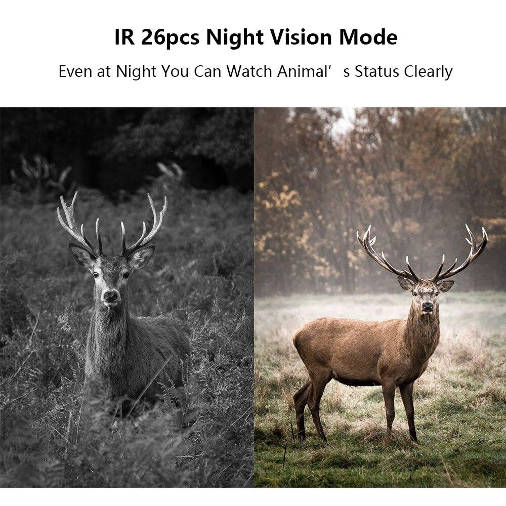 Купить ик охотничья фотоловушка водонепроницаемая ночное видение 26