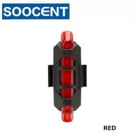 Fiets licht Oplaadbare LED Achterlicht USB Achterlichten Veiligheidswaarschuwing Fietsen Kleur licht Flash Light Super Bright