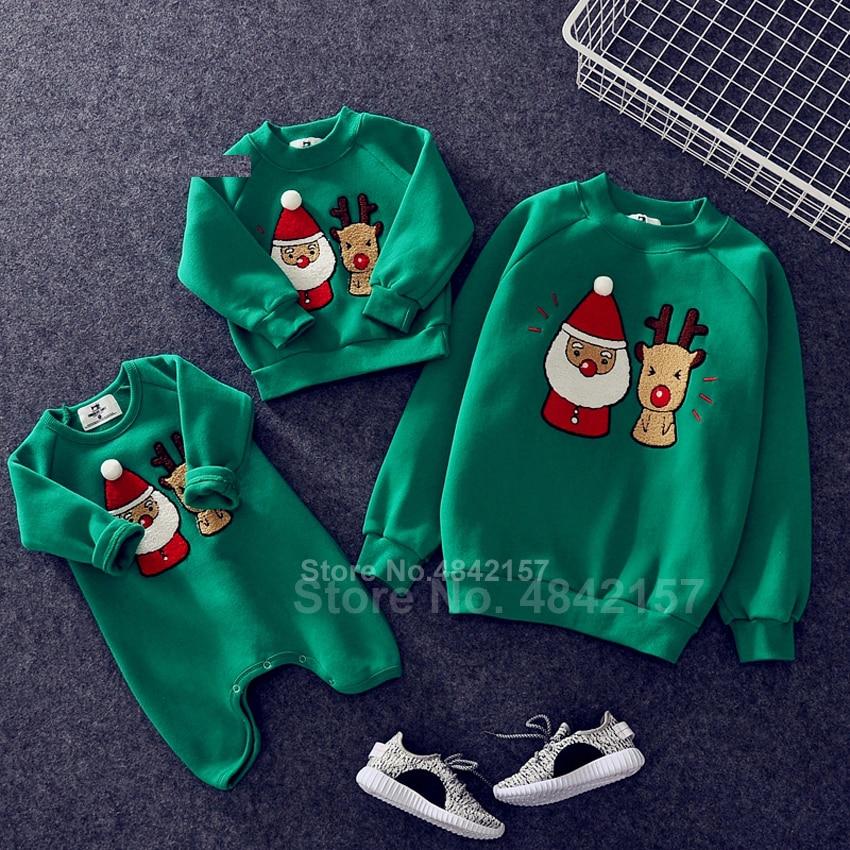Новинка года; Рождественские свитера для всей семьи; 19 цветов; рождественские худи; пижамы; теплый свитер с вышивкой Санта-Клауса и лося; подарок для взрослых и детей - Цвет: Color11