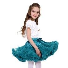 Юбка-пачка для маленьких девочек возрастом от 1 года до 15 лет юбка-американка для балерины Многослойные пышные Детские Балетные мини-юбки, вечерние фатиновые Юбки принцессы для танцев для девочек