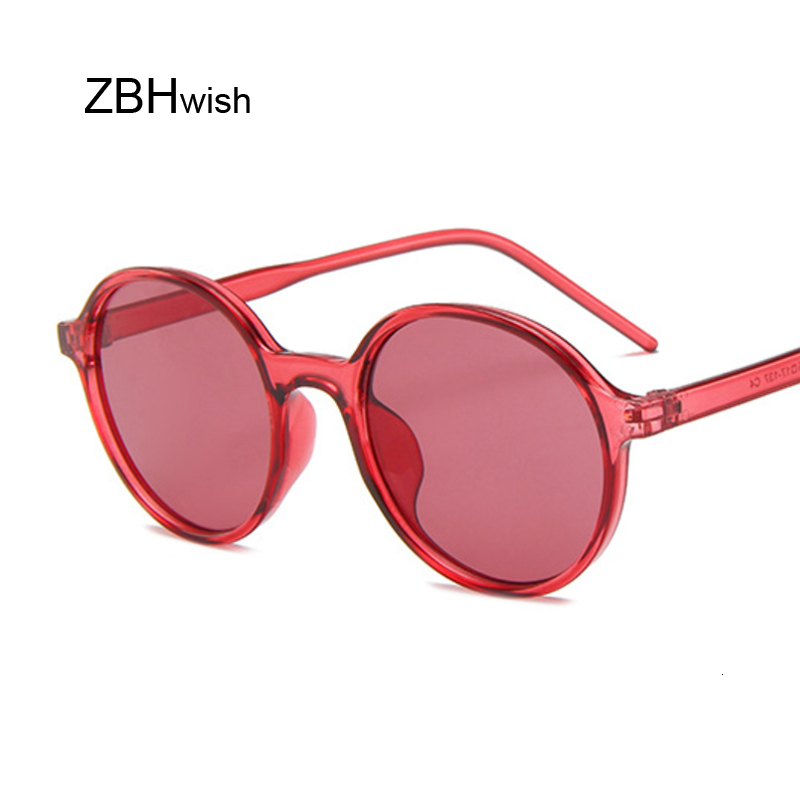 Big Oversized Round Sunglasses Women Brand Designer Candy Color Lenses Vintage Ocean Stylish Summer Red Sun Glasses Female