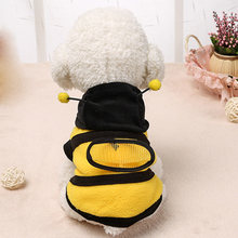 Cat Dog Clothing Cute Bumble Bee Dress Up Costume Apparel Coat Clothes Pet Supplies LAD-sale(China)