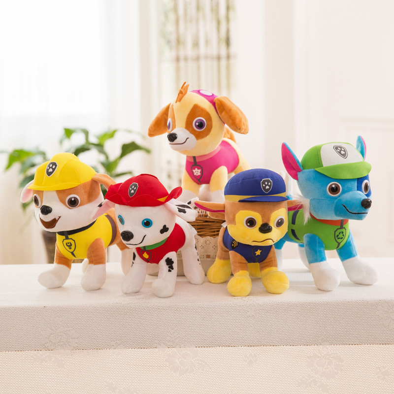 30cm Paw Patrol Dog 6 Color Plush Toys Soft Puppy Canine Keychain Plush Dolls Canine Broadcast The Hit TV Cartoon Animation 7D08 image