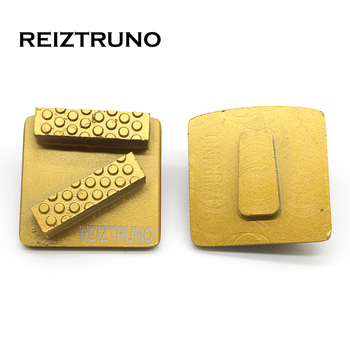 REIZTRUNO two Bar Trapezoids  Diamond pcd Segments Diamond Floor Grinding Pad for Concrete Epoxy Removal 4 diamond pcd cup wheel 5 pcs per package free shipping 100mm epoxy coating removal tools 4 segments