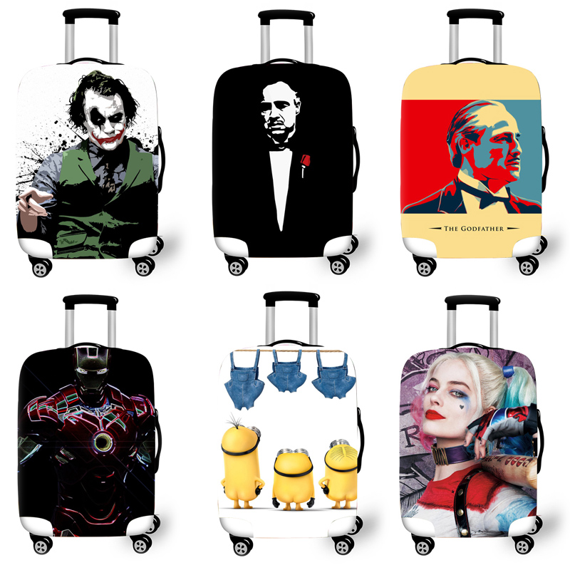 Elastic Luggage Protective Cover Case For Suitcase Protective Cover Trolley Cases Covers 3D Travel Accessories Movie Pattern T62