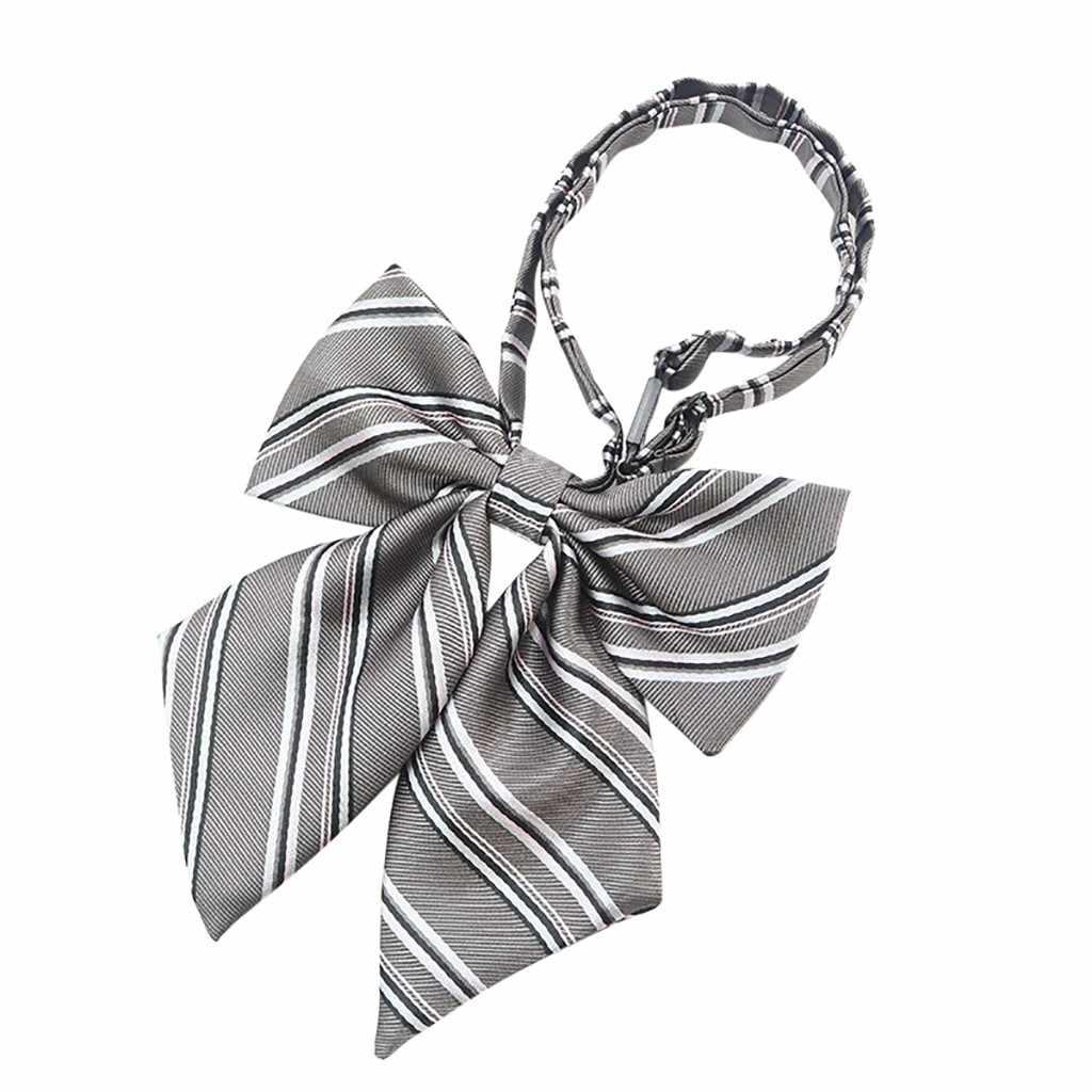 JAYCOSIN ربطة القوس فيونكة قابل للتعديل موضة الكبار ربطة العنق هدية التعادل منقوشة الحرم الجامعي نمط مدرسة ربطة القوس فيونكة شريط الرقبة موضة قميص اللباس 1