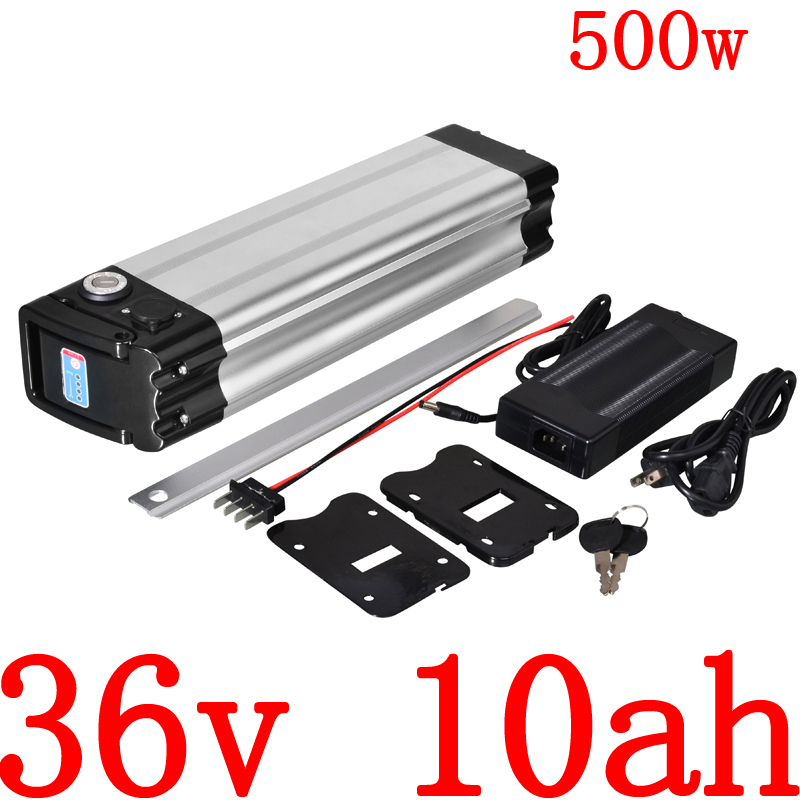 36V 500W battery 36v 8ah 9ah 10ah 11ah 12ah 12.5ah 13ah electric bike battery 36V 10AH Lithium battery with 2A charger free duty image