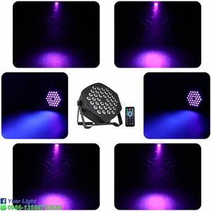 Image 5 - 2Pcs/Lot DJ Equipment 36X3W LED UV Par Light UV Stage Light Violet Led Bar Laser Projection Lighting Party Club Disco Light