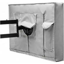 Погодозащищенный пылезащитный чехол для наружного ТВ, бежевый защитный чехол для ТВ на 32, 36, 40, 46, 50, 55, 60, 65 дюймов, для сада, патио, уличного ТВ