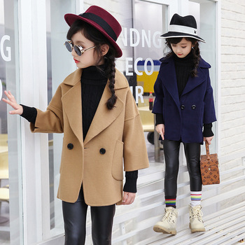 Children Windbreaker Baby Girl Kids Jackets For Girls Coat Fashion Button Clothing Casual Red Outerwear Jacket