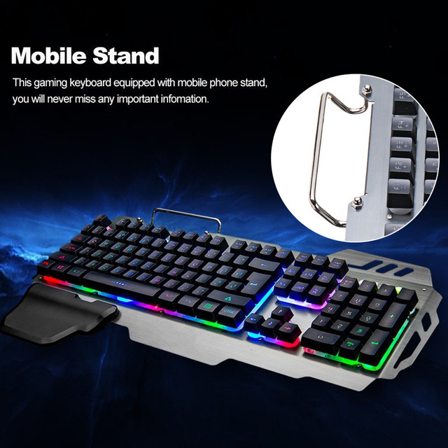 PK-900 104 Keys USB Wired Backlit Mechanical-Handfeel Backlight Gaming Keyboard for Gamer Computer PC Laptop 3
