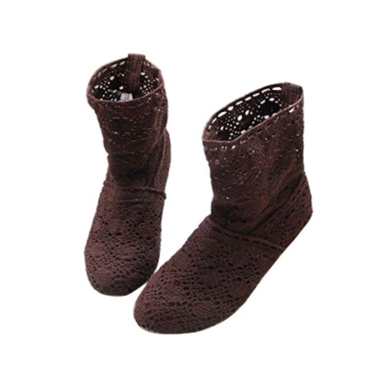 Купить женские ажурные ботинки с кружевом летние размера плюс перфорацией