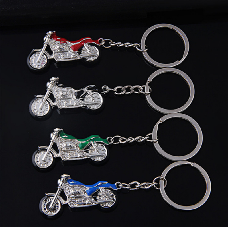 New Motorcycle Key Chain Charm Metal Keychain Men Women Car Key Ring 4 Color Key Holder Best Gift Jewelry 2019