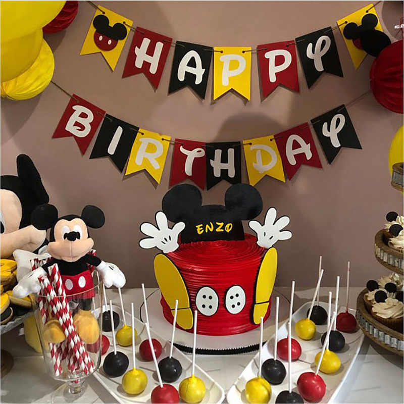 Party supplies Mickey Mouse image party decoration children birthday party balloon pendant baby shouwer supplies childrens birth