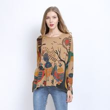 Свитера большого размера для женщин Свободный Повседневный пуловер