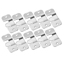 DRELD 10pcs Stainless Steel Hanging Oil Painting Mirror Picture Frame Hanger Art Work Photo Wall Hook Picture Hanger 43*19mm