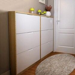Północnej europejski styl kreatywny dużej objętości prostota wielowarstwowe drzwi Ultra cienka przechylania buty drzwi płytka do przechowywania Hall cabi w Półki i organizatory na buty od Dom i ogród na