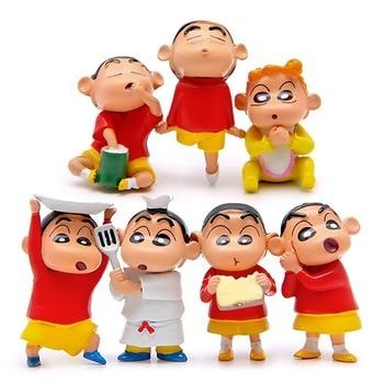 Crayon Shinchan Toy Figure Toys Christmas Hot Gift Kid Birthday Present 8pcs//set
