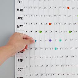 2020 год, ежедневник, план настенный бумажный календарь с 2 листа EVA Mark наклейки для офиса школы дома