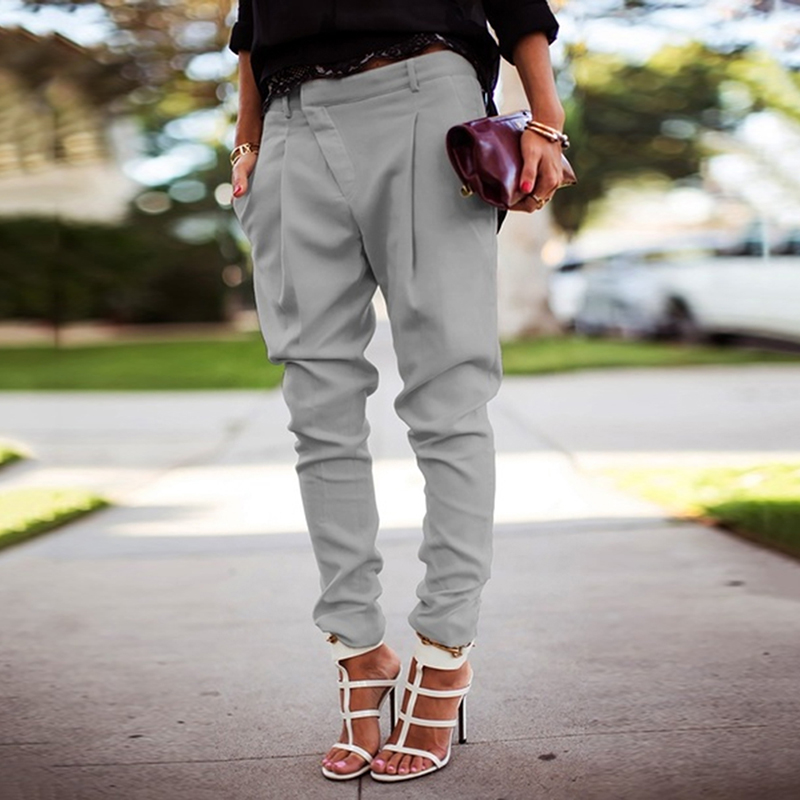 High Waist Pants Women Loose Joggers Lady Streetwear Punk Black Cargo Pants Femme Capris Trousers