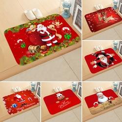 Merry Christmas Carpet Door Mat Santa Claus Printed Anti-Slip Mat Bathroom Mat Home Decor Indoor Mat Entrance Door Mat 40*60cm