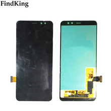 Mobile LCD Display For Samsung Galaxy A8 2018 A530 A530F A530F/DS adjustable brightness Touch Screen Digitizer LCD Display Tools