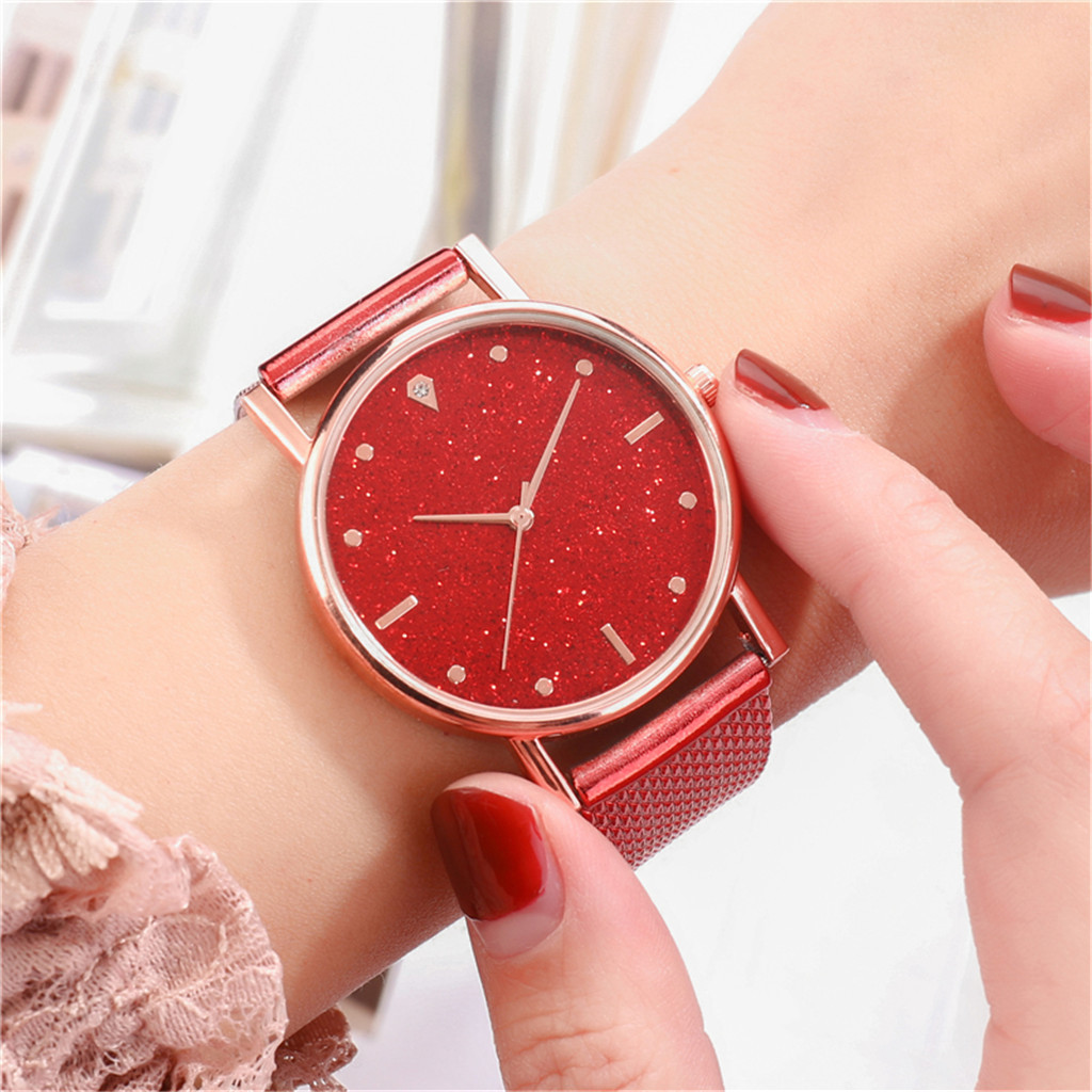 Fast delivery Fashion Business Women Watch Luxury Watches Quartz Watch Stainless Steel Dial Casual Bracele Watch Female new 3