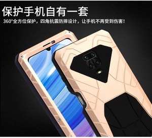 Image 5 - IMATCH Aluminum Metal Silicone Shockproof Case Cover For Xiaomi Redmi Note 9S Pro Max / Note 8 Pro Dirt Shock Proof Cover Case