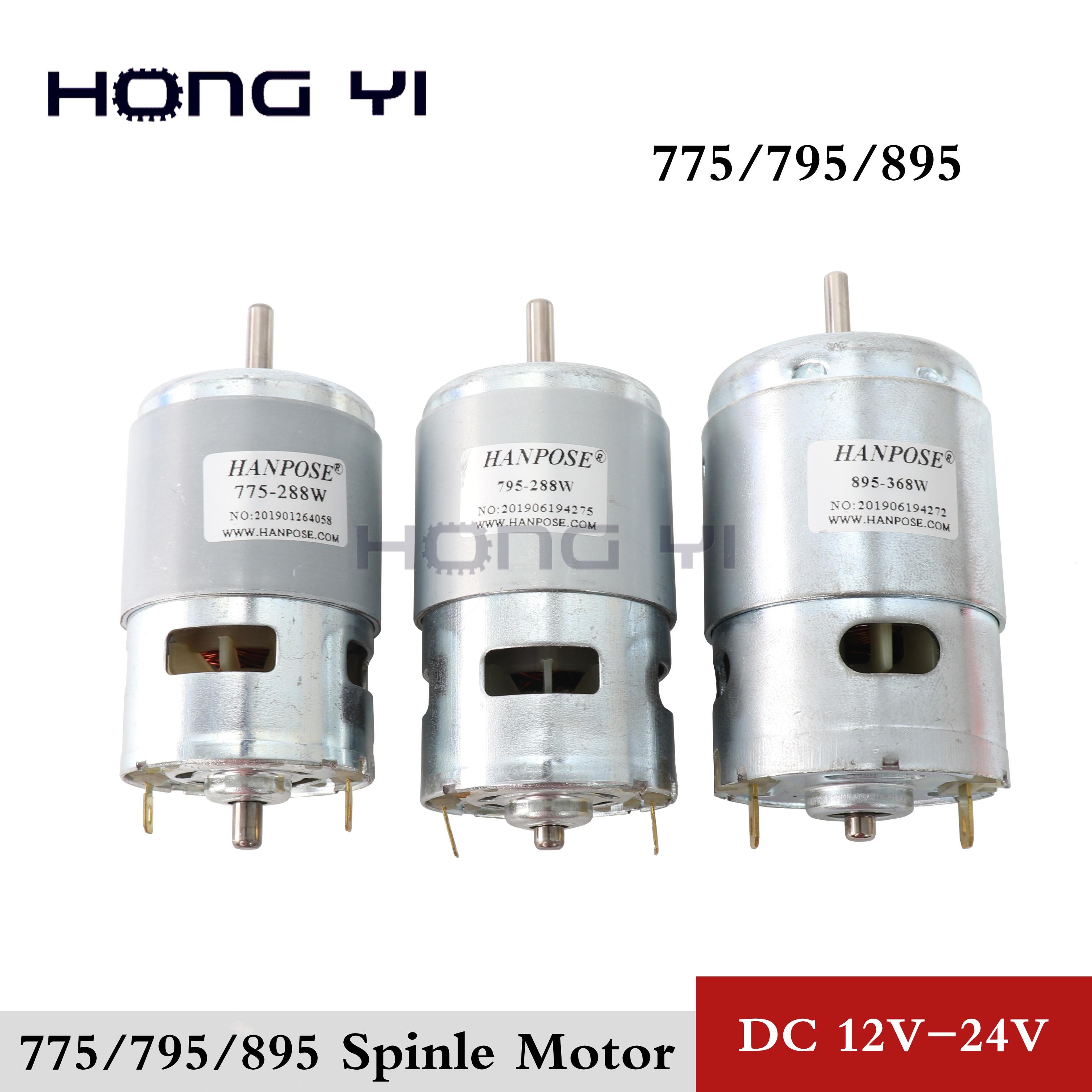 775 795 895 Motor Durable/Motor Bracket DC 12V-24V 3000-15000RPM Motor Large Torque Gear Motor For Engraving Machine Lathe Tool