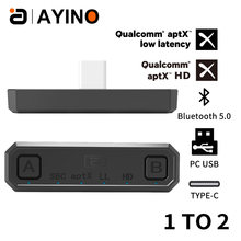 Bluetooth 50 беспроводной аудиопередатчик aptx hd/ll usb type