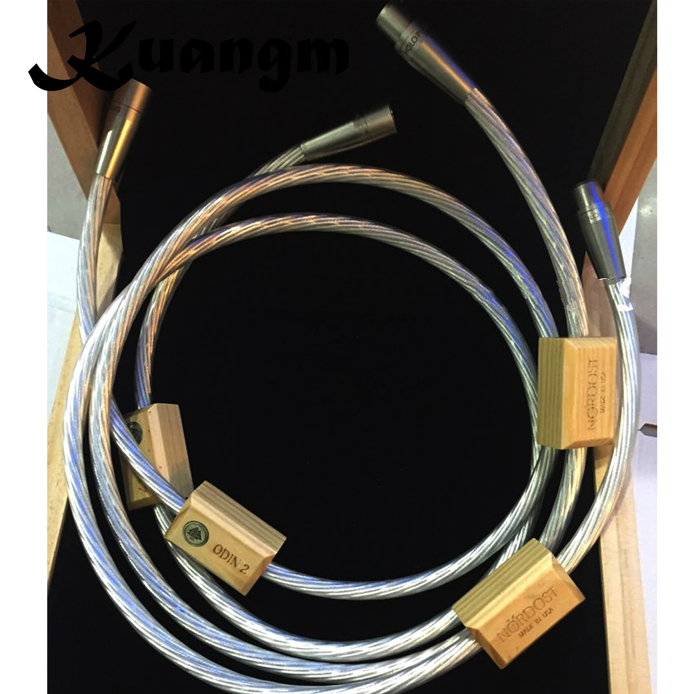 Hi End Hifi аудио Ампер CD DVD плеер соединительный кабель Nordost Odin серебро ссылка соединители XLR баланс кабель провод