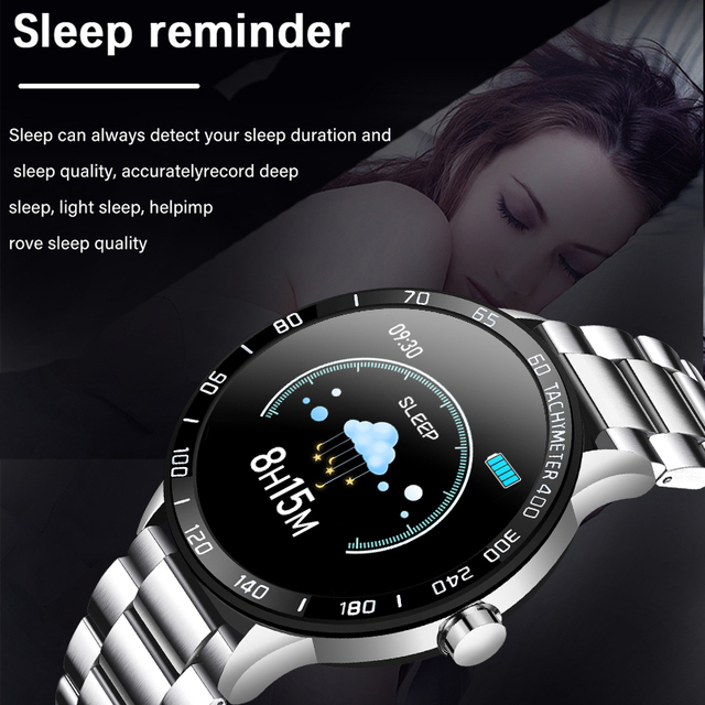 LIGE New Steel Belt Smart Watch Men Heart Rate Blood Pressure Health Monitoring Sport Waterproof Smartwatch fitness tracker+Box