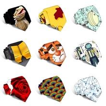 Fashion 3D Printed Men's Tie Creative Design Funny For Men Wedding Party Business Slim Polyester Accessories Necktie