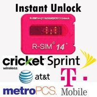 Universal R SIM14 + Nano Entsperren Karte Voll Automatische Entsperren Karte Fall Halter mit Verbesserte Programm für iOS13 iPhone auf