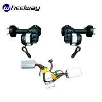 Movimentação dupla elétrica da trilha elétrica da movimentação da roda do veículo bonde do uso duplo manual do controle remoto da movimentação dupla do eixo traseiro