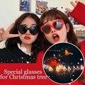 3D Rave Prism Diffraction Рождественская елка объектив очки пластиковый Рождественский Декор Новогодний подарок для детей Rave Prism Diffraction