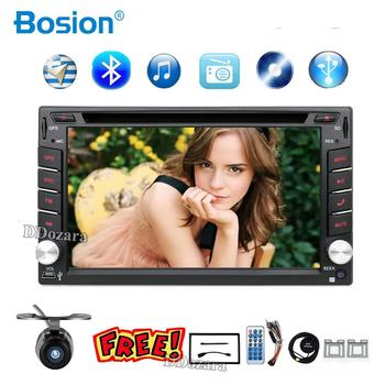 2 din car radio gps navigation steering wheel 2din Radio DVD Player Auto In Dash Stereo Video Car Multimedia Player TV(Option) image