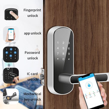 Biometric Fingerprint Door Lock Tuya APP Smart Electronic TT Lock Safe Home Security Wifi Remote Control Digital Door Lock