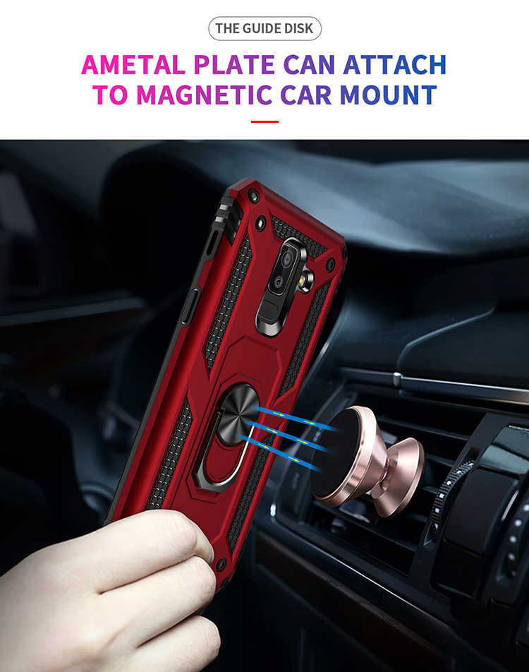Kasar Magnet Armor Case untuk Samsung Galaxy Note 10 Plus 8 9 S8 S9 S10e Case Cover J2 Inti J7 prime J4 J6 Plus J8 2018 J5 2017