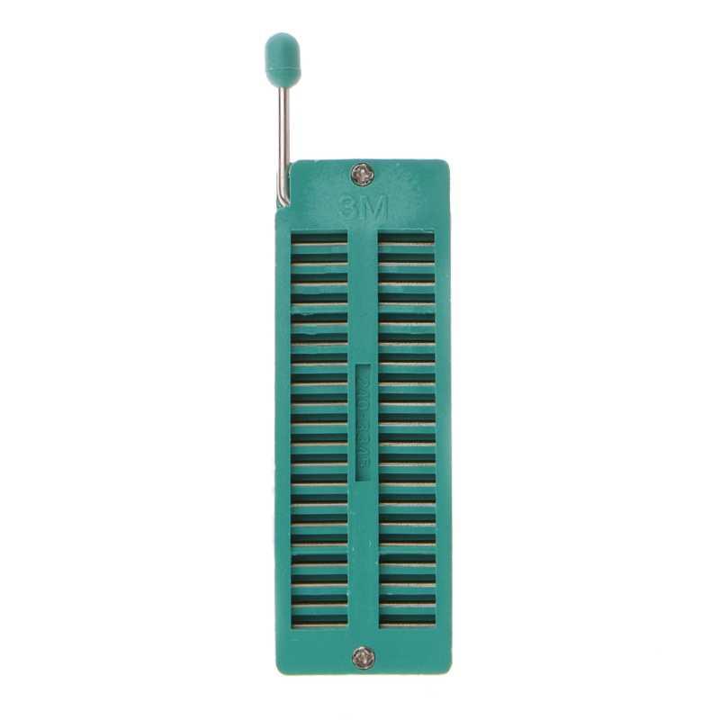 16 20 24 28 40 P Pin 2.54 Mm Hijau DIP Uji Universal ZIF IC Socket Welding Tipe DROP Kapal dukungan