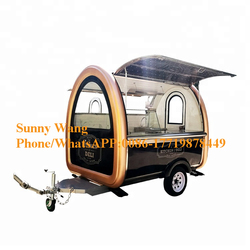 Wholesale Price food trucks mobile food trailer food kiosk crepe mobile kitchen van with shipping service