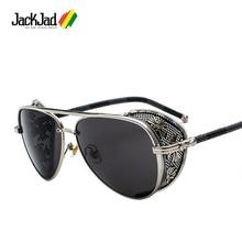 JackJad 2020 Vintage Luxury SteamPunk Style Sunglasses Quality Handmade Side