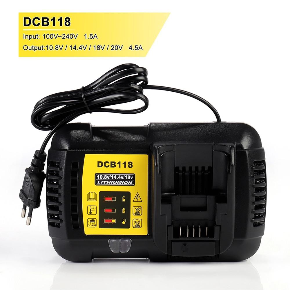 Новинка 14,4 A DCB118 DCB101 быстрое зарядное устройство для аккумулятора Dewalt 12 В в 20 в литий-ионный аккумулятор высокого качества & DCB112