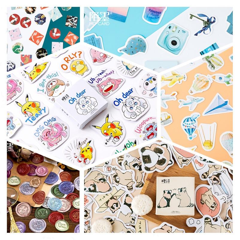 45pcs/pack Child Cartoon Stationery Sticker Decorative Stickers Adhesive Stickers DIY Decoration Diary Children Gift
