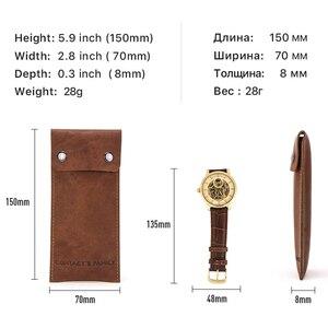 Image 5 - Защитная сумка для часов из натуральной кожи, стильные зеленые брендовые дорожные Чехлы для влюбленных