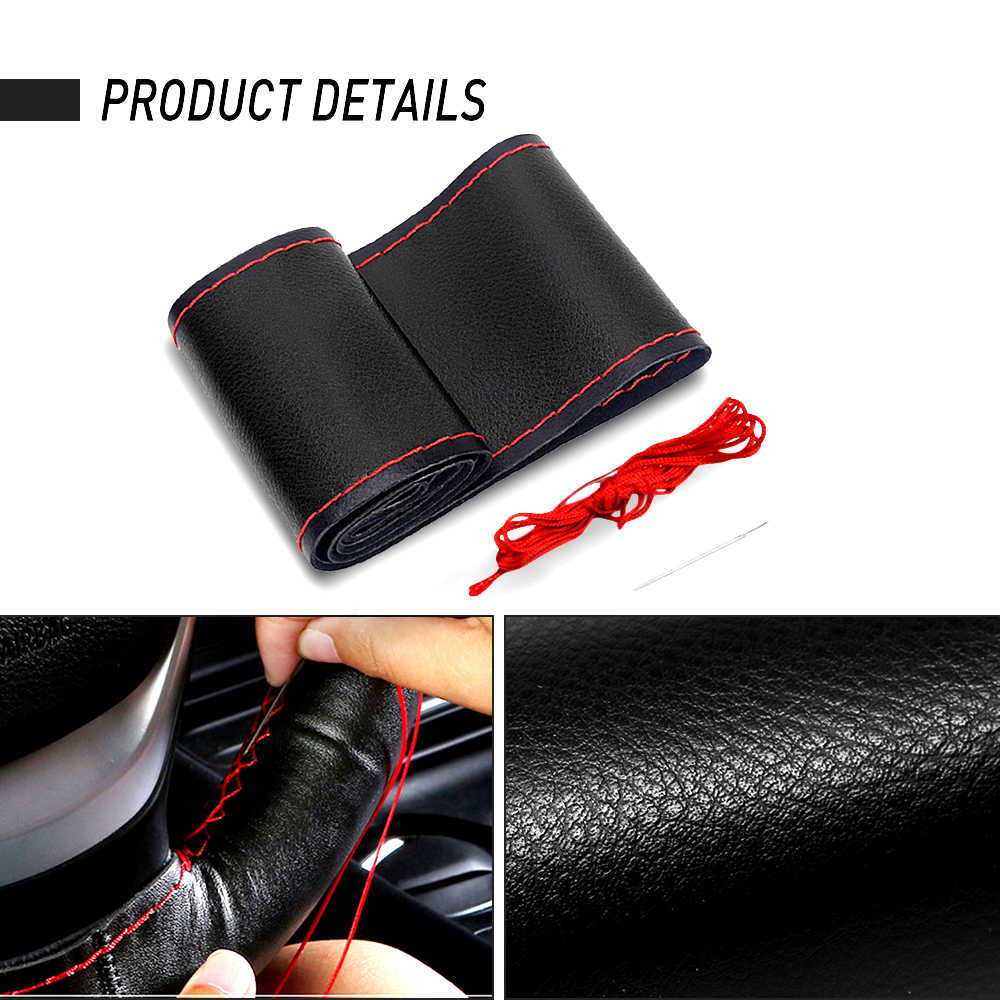 Universal Car Steering Wheel Cover for Chevrolet Cruze Lacetti Niva Epica Captiva Aveo Malibu Holden Ravon R4 Auto Wheel Cover