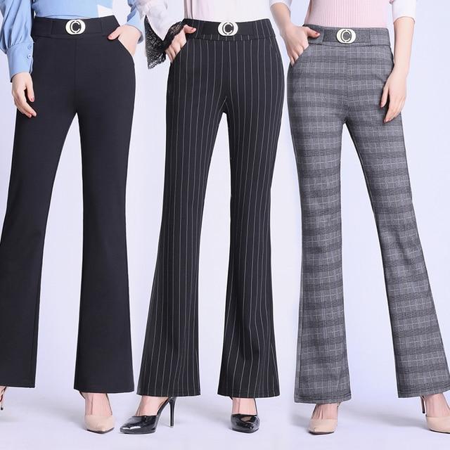 Elasticity Bell Bottom Pants  1
